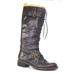 TROUVE knee high zip up lace up hiking winter snow